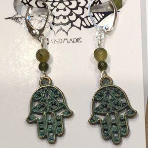 Casey Keith Design Jewelry - Hamsa Earrings